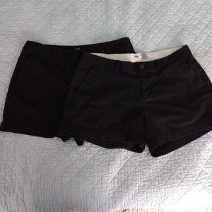 Two pairs of Size 6 Black Shorts
